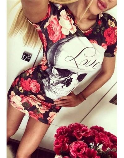 Summer Dress 2019 Women Sexy Casual Print Sleeveless Slim Dress Plus Size Female Cute Cartoon Bodycon Mini Party Dress Vesti...