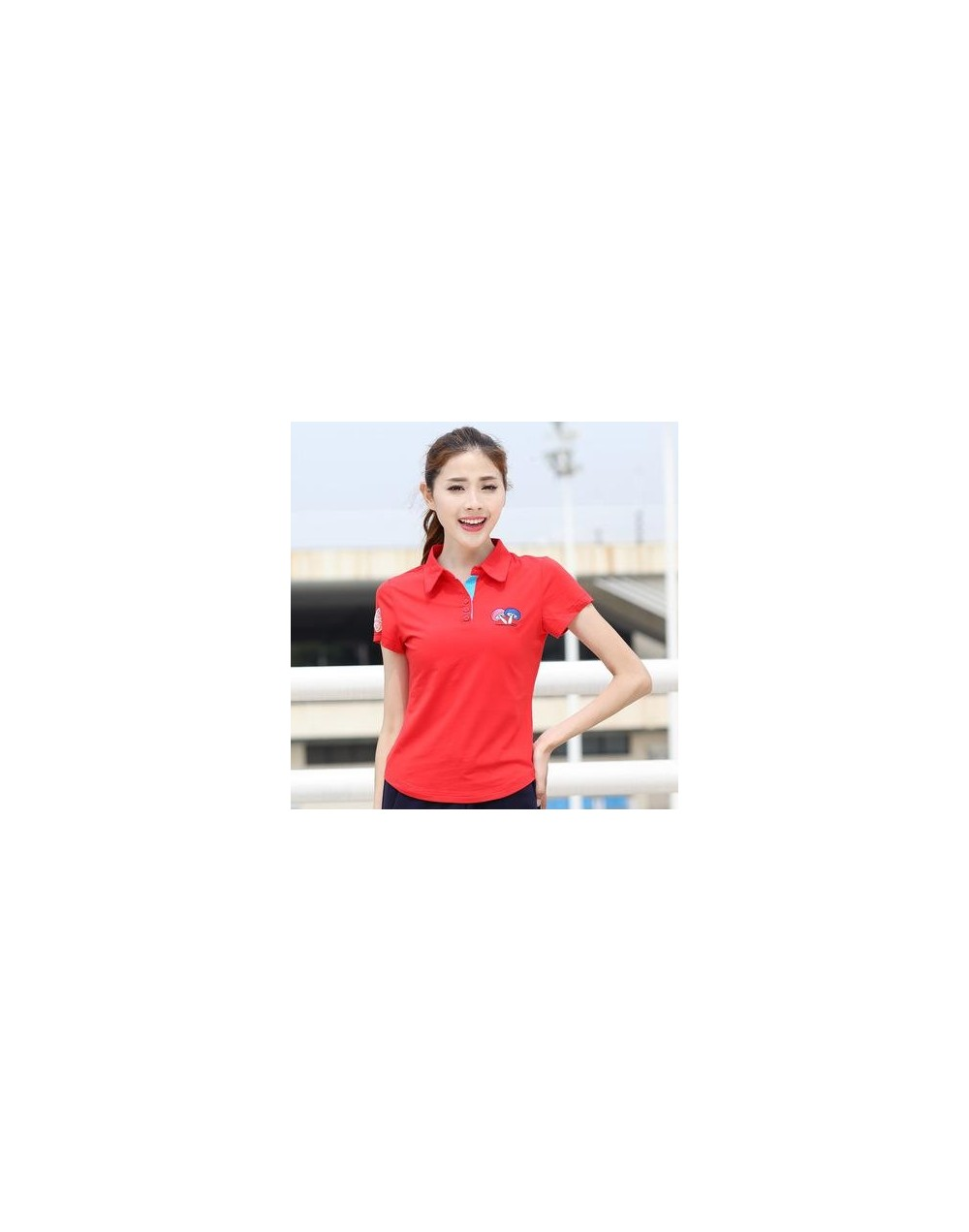women polo shirt spring summer size M-6XL cotton ladies short sleeve tee female turn-down collar Embroidery polo y46 - as pi...
