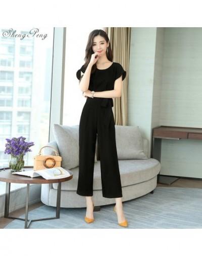 Jumpsuit female 2019 ladies elegant long business office jumpsuits for women 2019 rompers jumpsuit trousers female V1540 - 1...