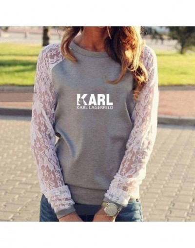Women Clothes Tops 2019 Kawaii Karl Lagerfeld Print Vintage Cotton T Shirt Loose Vintage Casual Tee Shirt Femme Lace Tops Fe...