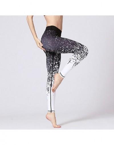 Slim Fitness Training legging Gym Sport High Waist s Running Jogging Tummy Control Printed Trousers - Black - 5B111174661034-1