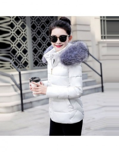 New Fashion Winter Jacket For Women Classic Parka Women Fake Raccoon collar Hooded Down Jacket Female Warm Winter Coat Women...