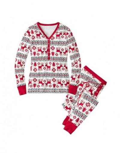 Family Matching Christmas Pajamas Long Sleeve Tops Pants Sleepwear Set Parent-Child Homewear BMF88 - Father L - 5W1112313543...