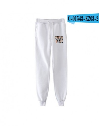 2019 Cameron Boyce print Pants cool Hipster Fashion Basic Street Popular Slim Trousers Popular breathable Women/men - white ...