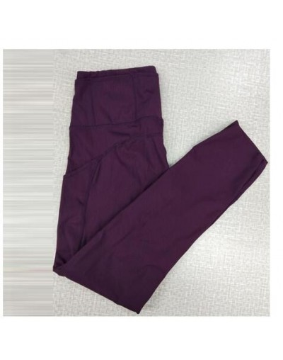 print leggings high waist pants Ankle-Length Pants 7/8 capris pants Pencil skinny Pants - Wine red - 4L3036902605-10