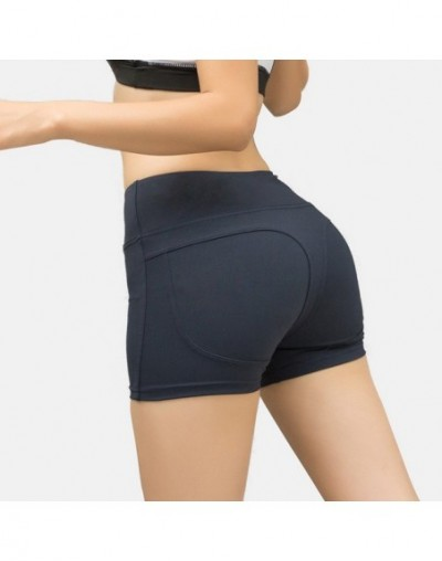 2019 The New peach and sports shorts girls running fast dry stretch tight yoga reference and three sub-Pants - Dark Gray - 5...