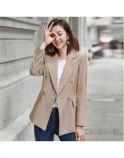 Spring Suits Women's Blazers Formal Office Work Blazer White Black Blazer Long Sleeve Slim Suit OL Coats Traje Terno - Coffe...