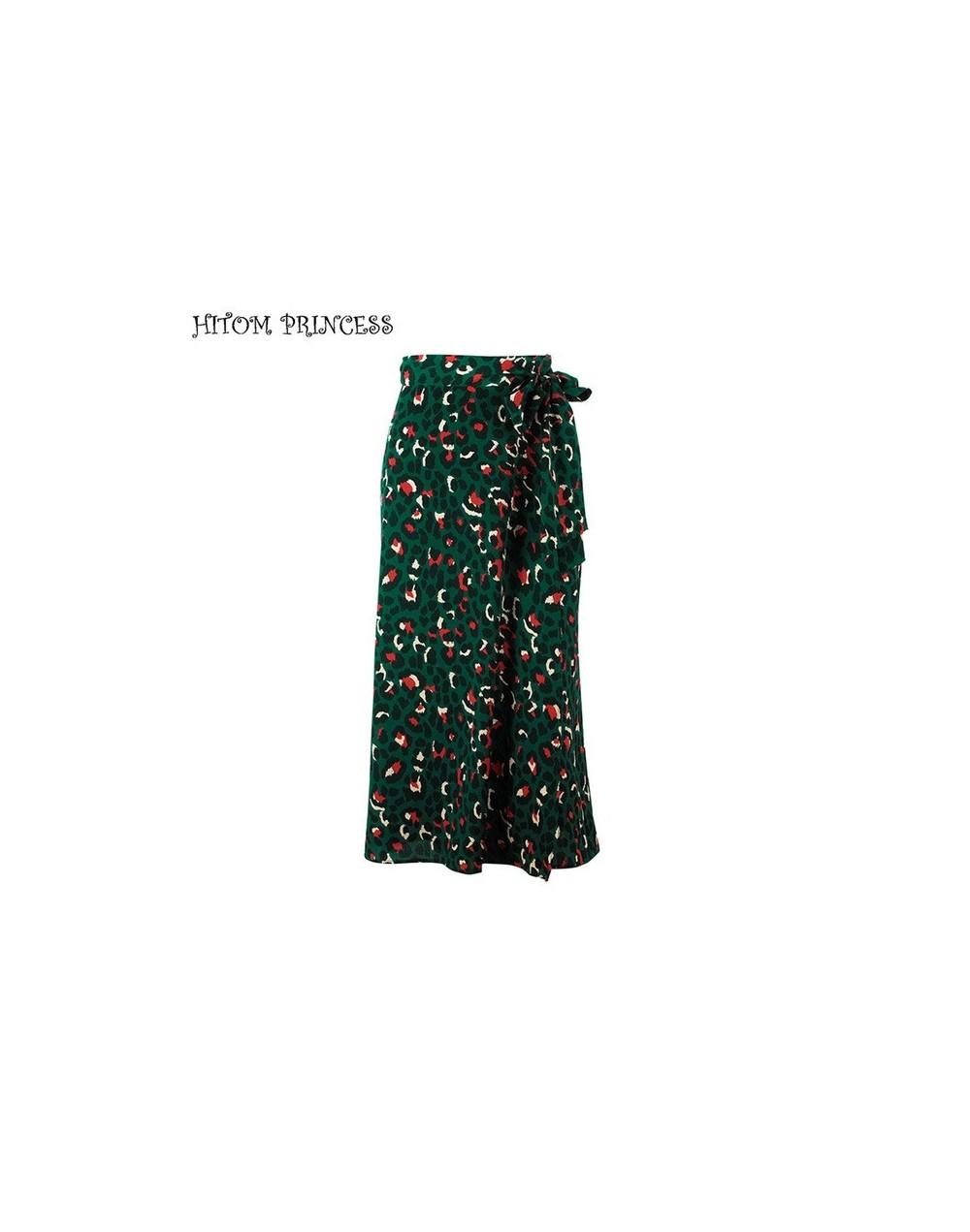 Women 2 Pieces Set Lip Print T Shirt and Leopard Long Skirt Sets Two Pieces Outfits Streetwear High Waist Skirts - Skirt - 4...