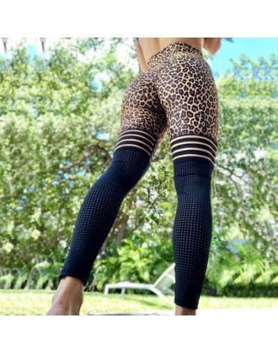 Sexy Leopard Leggings Women Slim Sports Leggings High Waist Mesh Patchwork Pant Push Up Workout Jeggings Fitness Women Leggi...
