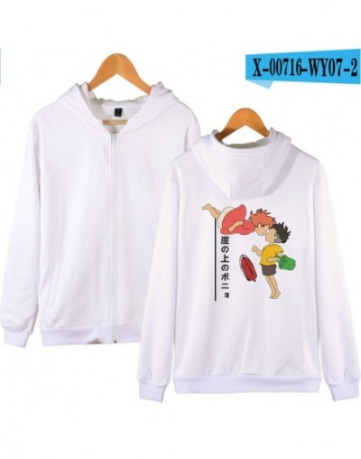 2019 Anime Movie Ponyo On The Cliff Zipper Hoodies Sweatshirt Fashion Zip-up Brand Personality Sweatshirt Autumn Winter Clot...