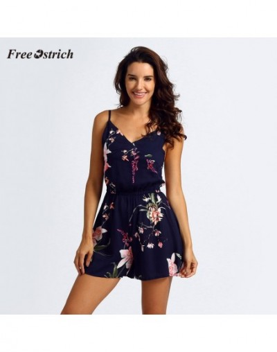 2019 New Women's Playsuits sweet Summer Casual Fashion Print Thin Strap Sleeveless Jumpsuit Overalls for Women A - 400008162...
