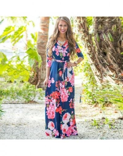 Summer Long Dress 2019 Floral Print Boho Beach Dress Sexy Elegant Bandage Bodycon Party Dress Tunic Maxi Dress Vestidos de f...