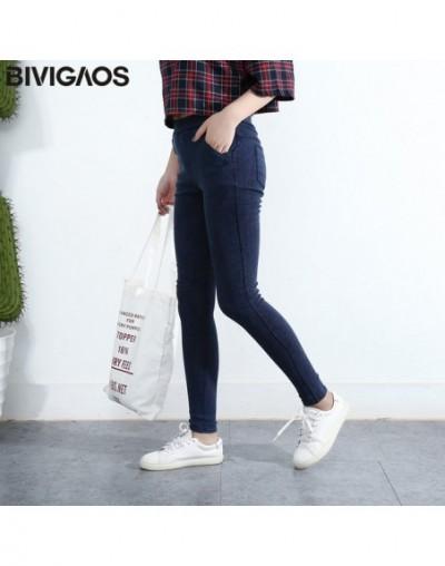 Women's Slanting Pocket Washed Jeans Leggings Pencil Pants Elastic Denim Leggings Skinny Jeans Jeggings Women Trousers - Was...
