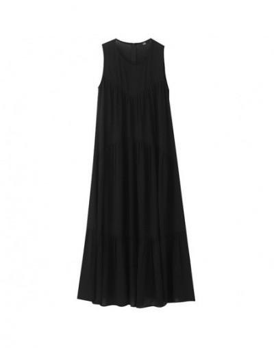 2019 New Spring Summer Strapless Black Brief Pleated Split Joint Loose Long Temperament Sleeve Dress Women Fashion JW250 - b...