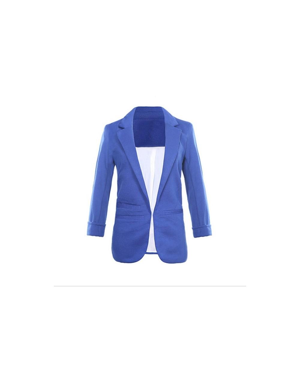 Front Notched Blazer 2018 autumn Women Formal Jackets Slim Fit Blazer white Ladies suits 11 colors Open Office Work size S-X...