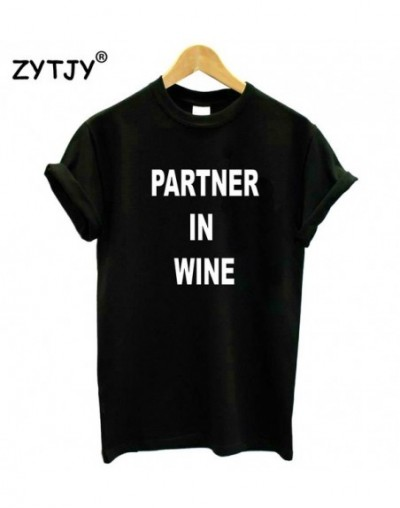 Partner In Wine Women tshirt Cotton Casual Funny t shirt For Lady Yong Girl Top Tee Hipster Tumblr ins Drop Shipping S-73 - ...