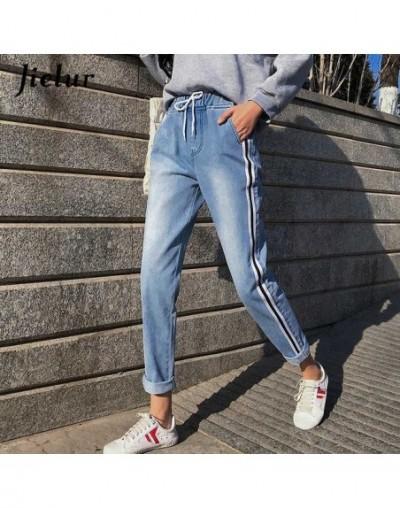 Boyfriend High Waist Jeans S-5XL Stripe Pantalon Jeans Femme 2019 Korean Style Plus Size Feminino Jeans Slim Dropshipping - ...