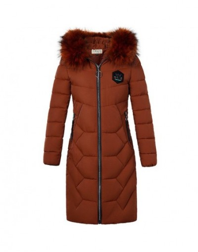 New Winter Warmth Straight Down cotton Jacket Fashion Hooded Fur collar Long Coat Plus size Womens Zipper Fluffy Parkas 5XL ...