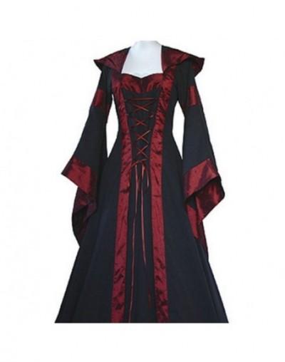 Autumn&Spring Women Retro Vintage Long Sleeve Medieval Renaissance Victorian A-line Dresses Y6 - Black - 4I3965294613-1