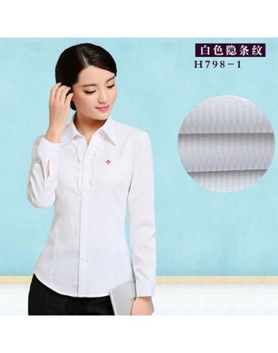 Embroidery Female Shirts Lady 2018 Body Blusas Femininas Shirts Women Long Sleeve Tops Roupas Camisas Plus Size - H798-1WHIT...