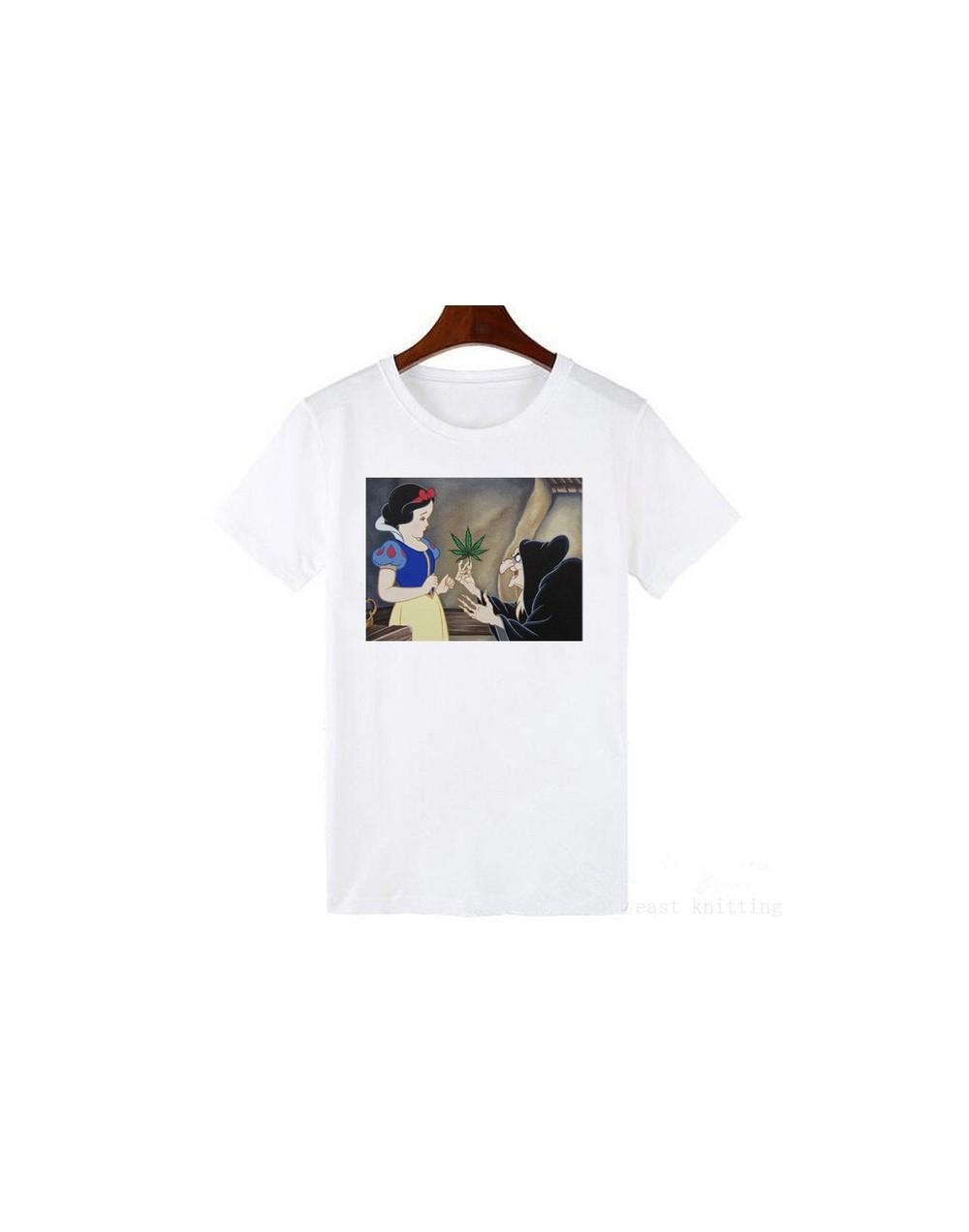 Women's Dark Snow White Harajuku T Shirt Funny Print Casual Short Sleeve Tshirt Girls Streetwear - 1035 - 4C4144489519-20