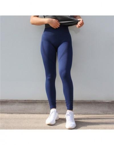 New Women's Fashion Seamless Leggings Athleisure Sporting Sweat Pants Hollow Sexy Lasdies Slim Workout Leggings - Blue CK341...