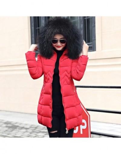 Women Plus Size 6XL 2019 New Big Fur Hooded Parkas Female Thick Warm Cotton Winter Coat Women Wadded Winter Jacket Women Out...