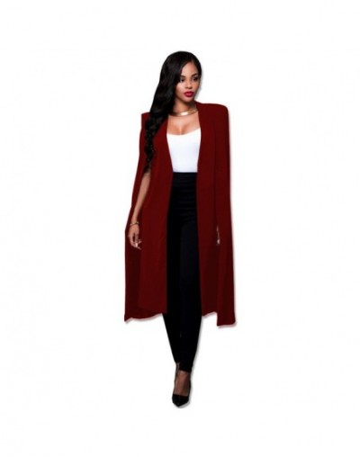2019 long solid color large cloak coat Autumn new large size women's suit jacket Fashion suit High quality Street hipster cl...