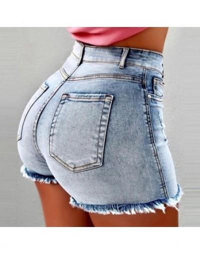 Ultra-short High Waist Jean Shorts Women 2019 Summer Casual Tassel Straight Cotton Short Feminino Streetwear - light blue - ...