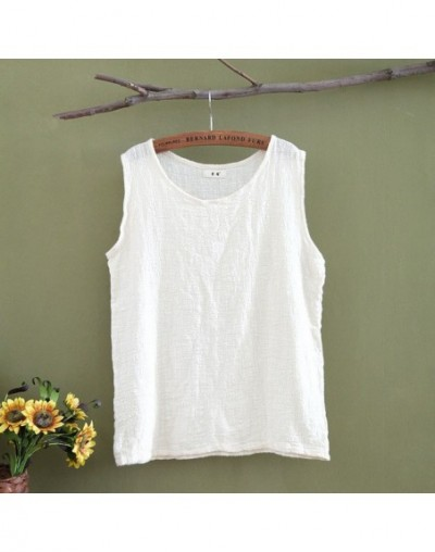 Tank Top Women O-neck Sleeveless Tank Tops Summer Kawaii Cute Camisole Cotton Solid Red Yellow White Tank Tops C013 - Beige ...