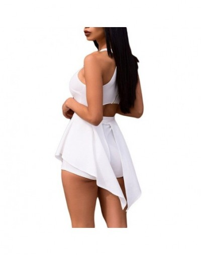 Women Elegant Jumpsuits & Rompers Halter Irregular Sleeveless Slim Bodycon Overalls Cocktail Club Party Bodysuit - WT - 3298...