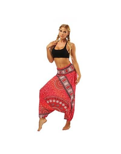 Women Loose Harem Pants Indie Folk Boho Hippie Pants Casual Trousers Elastic High Waist National Style Pants pantalones muje...