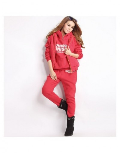 2019 Hot Autumn Winter Sports 3 Piece Outfits Hoodies Suits Thickened Female Furring Casual Women Plus Size 6XL Korean Hoode...