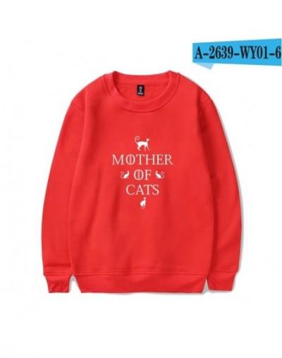 Mother of Cats Harajuku Casual Hoodies Sweatshirts Women Streetwear Anime Hoodie Sweathirt fashion plus size tracksuit - red...