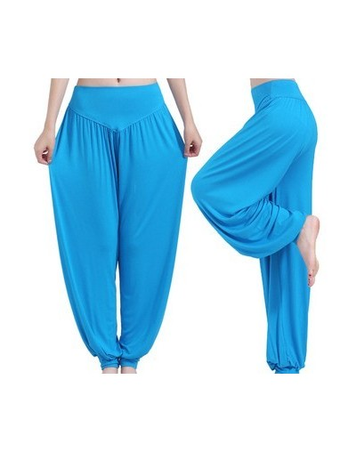 New Fashion Modal Solid Palazzo Pants Loose Trousers Women High Waist Stretchy Harem Pants Plus Size Elegant Woman Pants - L...