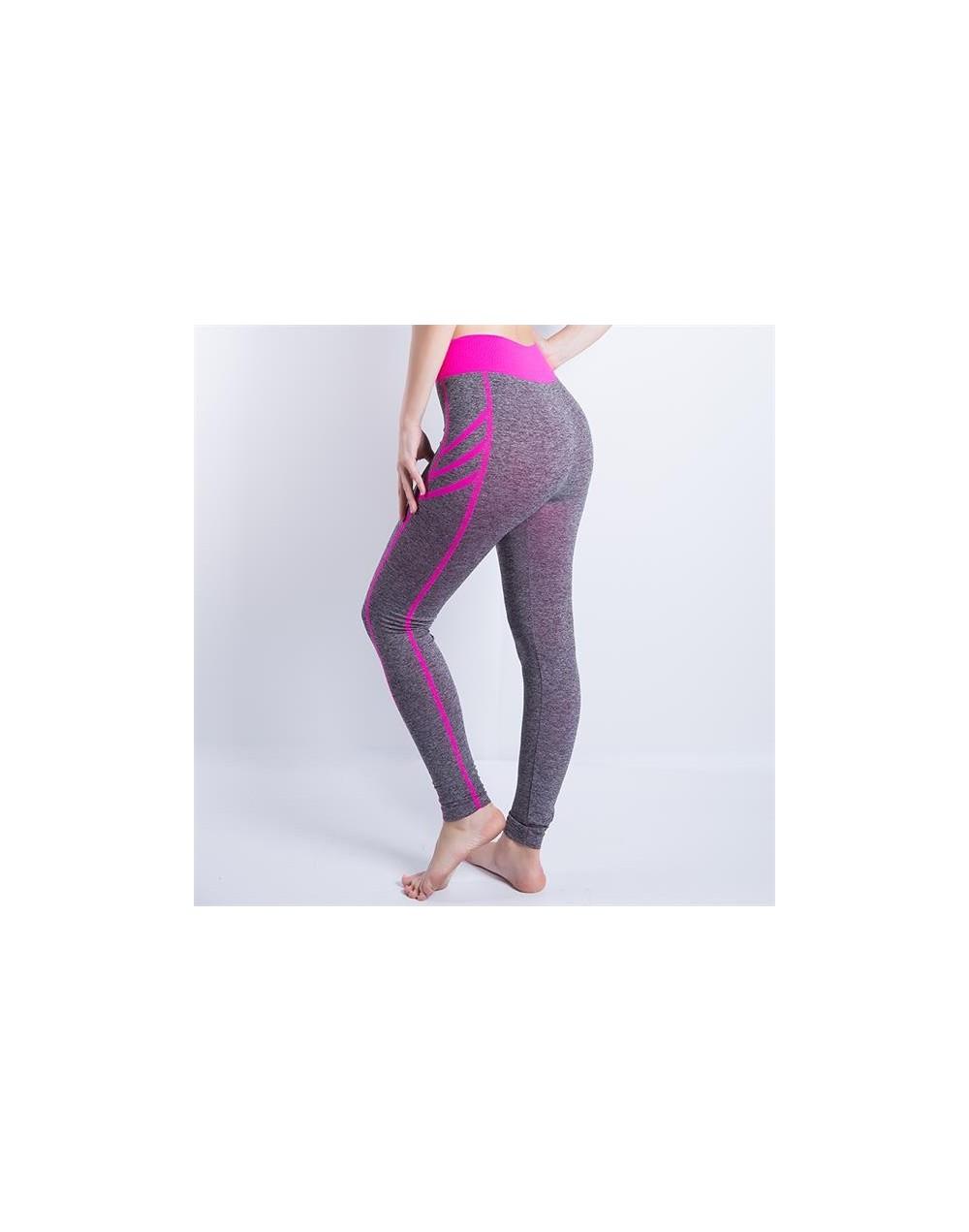 Women Sexy Cropped Leggings Slim Trousers High Waist Elastic Wicking Force Exercise Female Elastic Stretchy Leggings - 909 P...