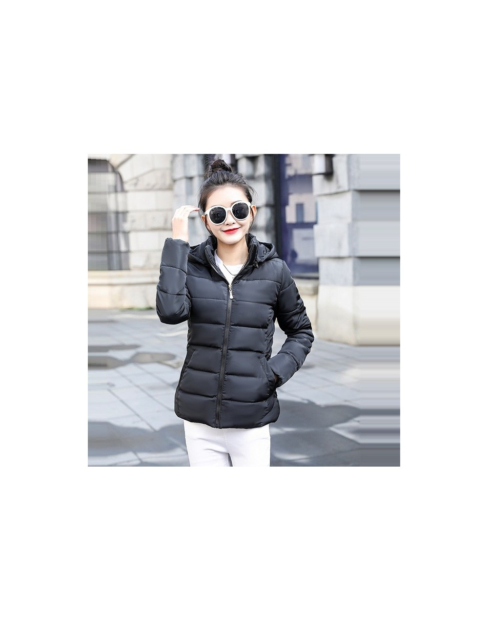 New Coats & Jackets 2019 Fashion Wine Red Parka Hooded Winter Jacket Women Winter Coat Women Zipper Down Jacket Female Coat ...