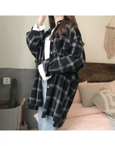 Women Plaid Shirts 2018 Spring Long Sleeve Blouses Shirt Office Lady Cotton Shirt Casual Loose Tops Plus Size Blusas 0.25KG ...