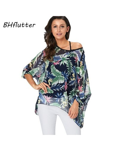 4XL 5XL 6XL Plus Size Blouse Shirt Women New Striped Print Summer Tops Tees Batwing Sleeve Casual Chiffon Blouses 2019 - pic...