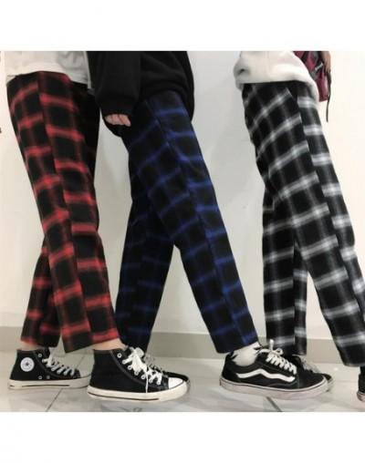 Spring Autumn vintage plaid loose casual pants - Black - 4H3970466520-1