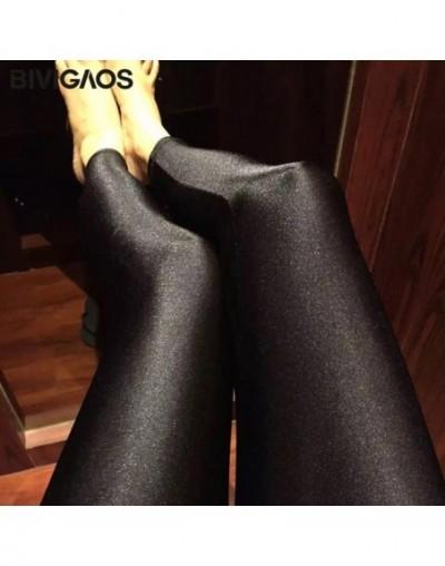 Womens Shiny Black Leggings Gloss Pants Shaping Workout Leggings Chinlon Elastic Sexy Legging Pantyhoses For Women - ninth p...