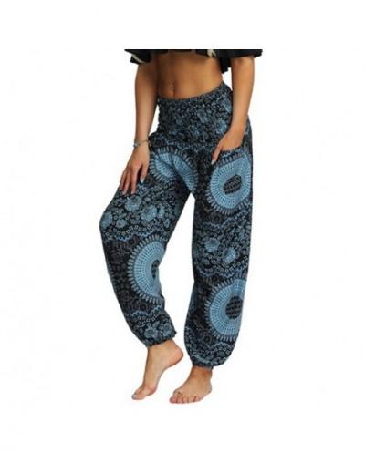 Women Loose Thai Harem Trousers National Style Festival Hippy Smock High Waist Long Pants Small Boho Print Lantern Pants - 1...