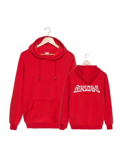KPOP Korean Fashion IKON NEW KIDS BEGIN Album Concert Cotton Hoodies Hat Clothes Pullovers Sweatshirts PT492 - Red - 4439257...