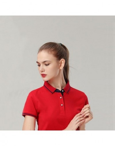 Casual Polo Women New Short Sleeve Slim Polos Mujer Black White Red Women Tops For Lady Polo Shirt Femme New Summer Brand So...
