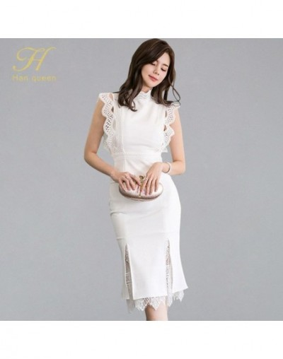 Women Summer 2 Pieces Suits 2019 Lace Patchwork Shirts Top And Mermaid Bodycon Skirts OL Work Wear Business Set New - White ...