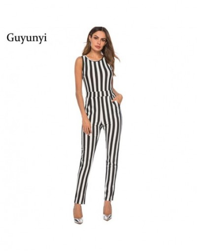Summer New White Bodycon Backless Stripe Jumpsuits Women Sexy Party Clubwear Jumpsuits Casual Overalls Jumpsuit - K106 - 4Z3...