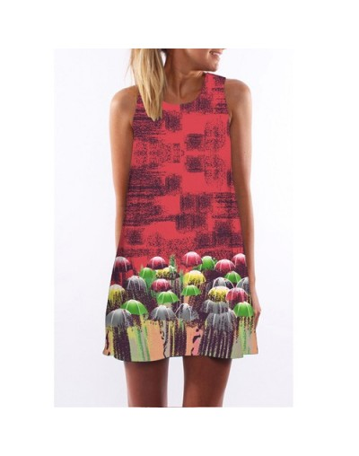 Summer Dress 2018 New Style Digital Printing Casual Dress Women Sleeveless Short Boho Style Mini Beach Dress Vestidos - Arm...