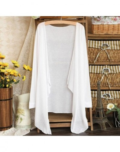 Summer Women Long Cardigan Modal Sun Protection Clothing Tops Harajuku Vintage Kimono Loose Cover up Free size Blusas femini...