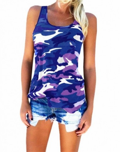2019 Summer Female Fashion Style Camouflage Tank Tops Women Sleeveless Tees Large Sizes Loose Beach Tops 5XL Plus Size T Shi...
