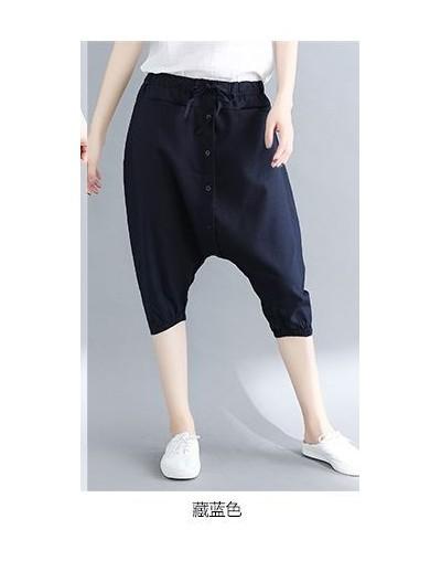 Harajuku Harem Pants Women Baggy Low Drop Crotch Trousers New Elastic Waist Japan Cross-pants Hip Hop Wide Leg Bloomers 8153...